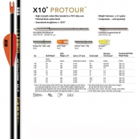 TUBES EASTON X10 PROTOUR par 12