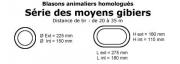 LOT DE 7 ''MOYENS GIBIERS'' LCC ARCHERY