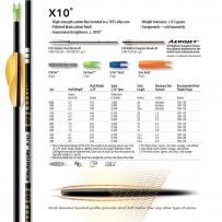TUBES EASTON X10 par 12